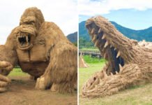 Wara Art Festival - Straw Monsters In Niigata City Japan