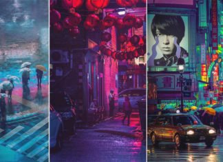 The Creative Eye of Neon Lighted Streets of Tokyo