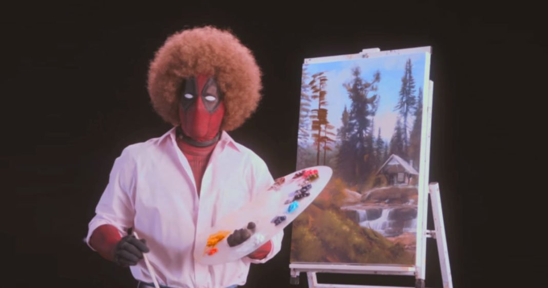 Deadpool as Bob Ross in new