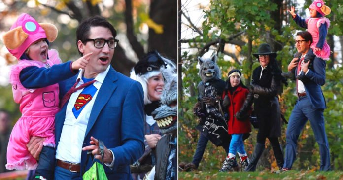 I Love it! Halloween Costume Superman Justin Trudeau Prime Minister