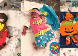 Nurses Dressed Up Baby's With Halloween Costumes