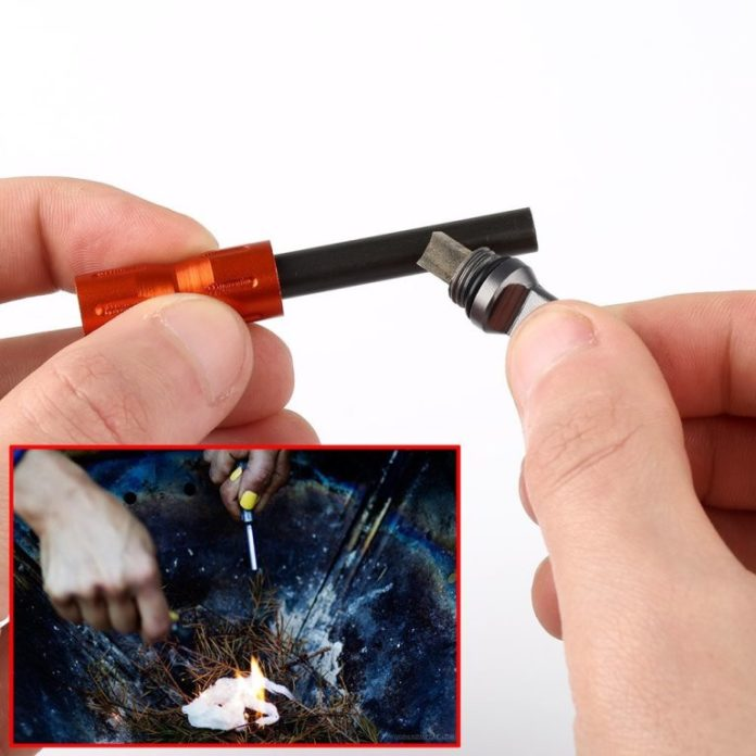 Never Run Out Of Fire Anymore! Small Alloy Fire Starter