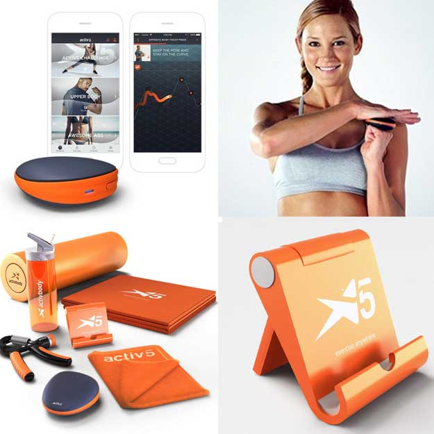 Activ5 Isometric Based Exercise - No Impact Muscle Activation - Portable Full-Body Workout and Strength Training Device with Free Coaching App - Deluxe Package