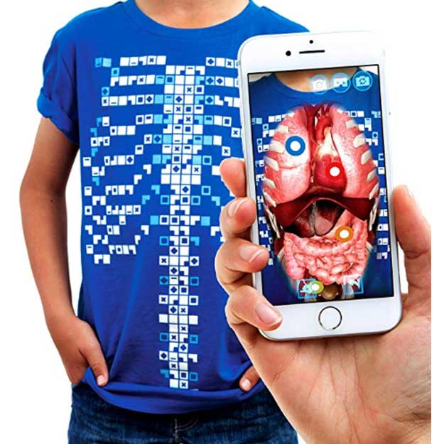 Curiscope Virtuali-Tee Educational Augmented Reality T-Shirt Anatomy