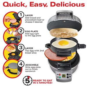 Fast and Easy Breakfast Sandwich Maker