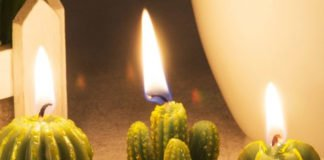Handmade Cactus Tealight Candles