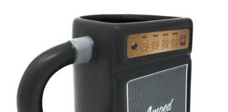 Large Guitar Amp Shaped Ceramic Mug