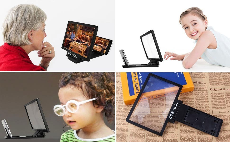 Phone Screen Magnifier And Stand For Smart Phones