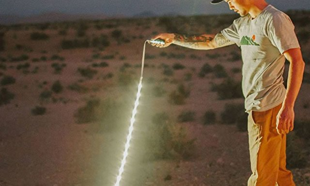 Portable LED Light Rope With Lithium Battery