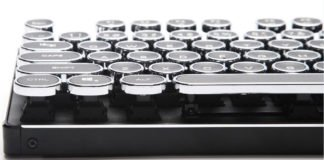 Retro Typewriter with Mechanical Qwerty Keyboard and Backlight