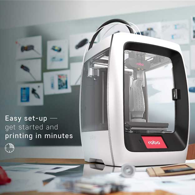 Robo R2 Smart Assembled 3D Printer with WiFi