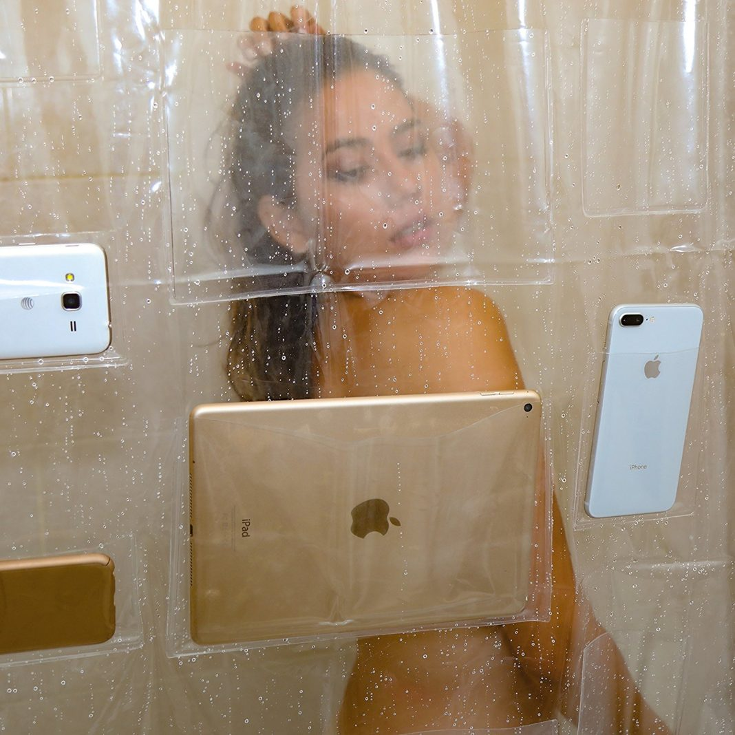 Screen Holder Shower Curtain