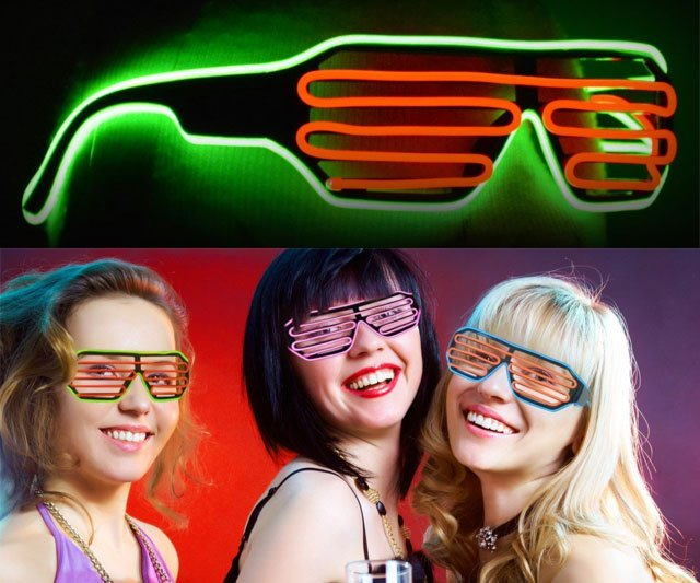 This Neon Glasses Will Let You Glow In The Dark