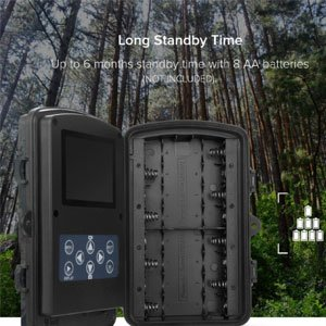 Waterproof Motion Trail Camera Battery Supported