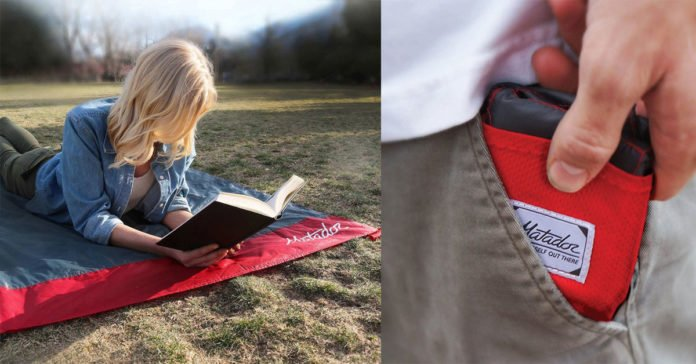 A Pocket Blanket You Can Take and Use Anywhere