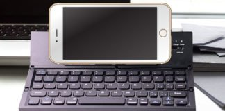 A Small Foldable Smart Phone Bluetooth Keyboard You Will Like