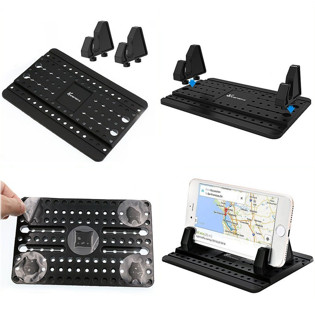 Car Phone Holder With Silicon Gel Pad Dashboard