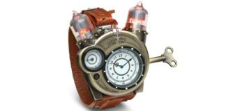 You Will Love This Steampunk Styled Tesla Analog Watch