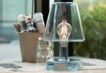 Unique Designed Cordless Rechargeable Transparent Table Lamp