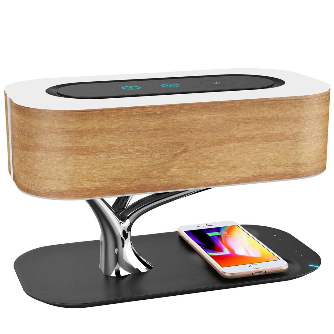Wireless Bluetooth Speaker Lamp With Wireless Charging