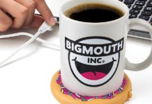 A Coffee USB Mug Warmer With A Donut Design