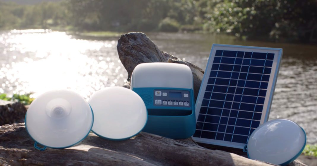A Portable Solar System For Light, Charging and Radio