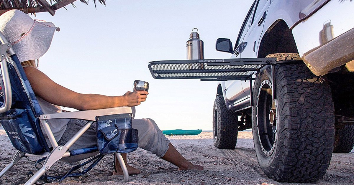 Mount This Tire Table On Your Car Whenever You Want