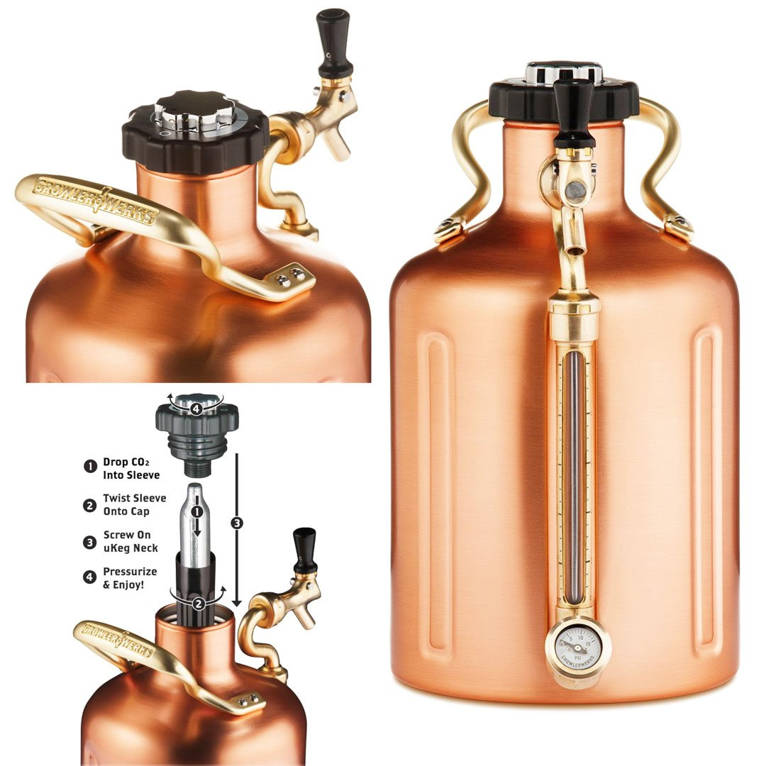 Pressurized Growler for Craft Beer
