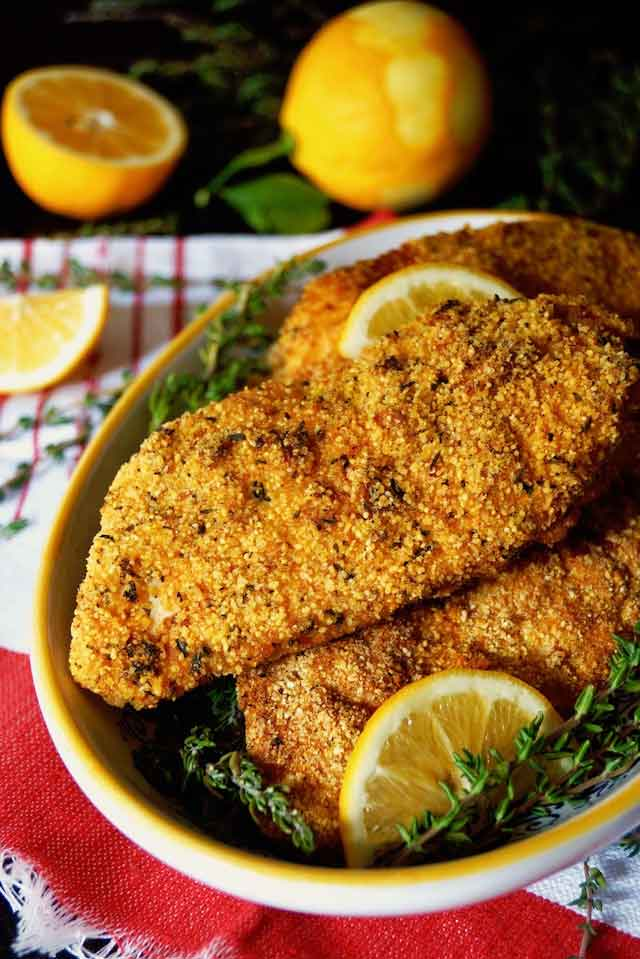 Air Fryer Gluten-Free Lemon Fried Chicken Recipe