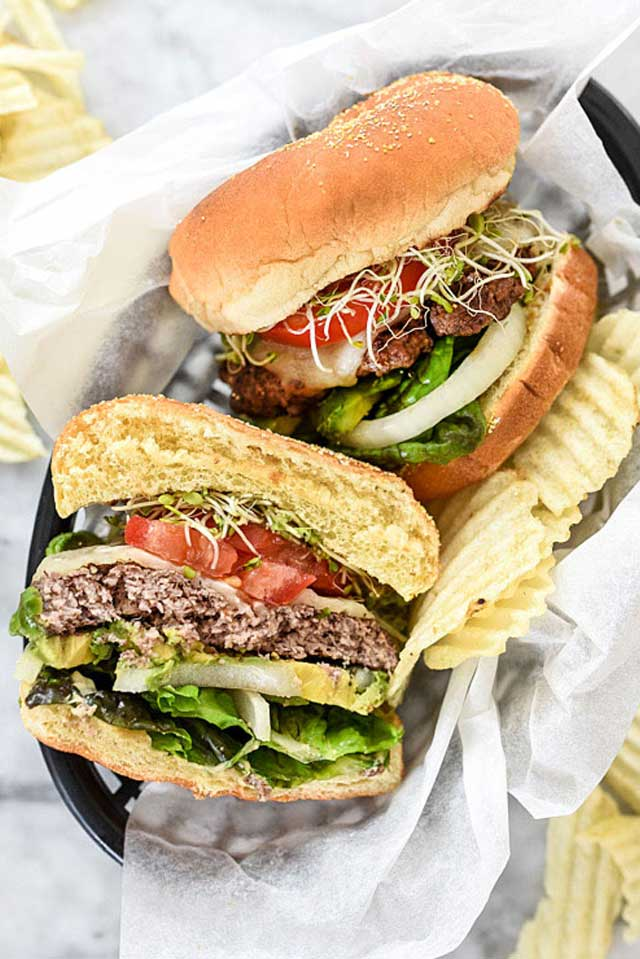 California-Style Bison Hamburger Recipes