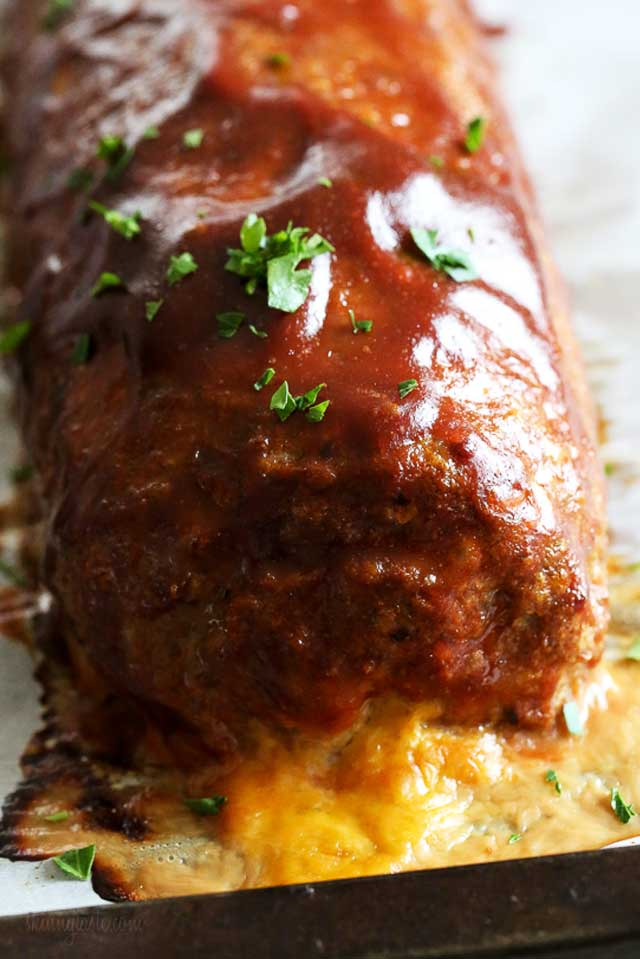 Cheese Stuffed Turkey Meatloaf Recipe