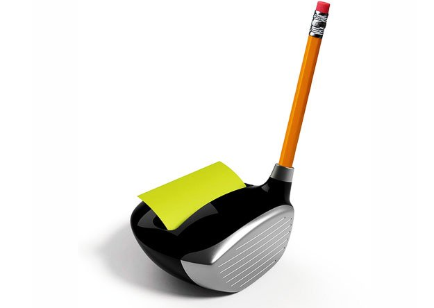 Golf Themed Post-it Pop-up Note Dispenser