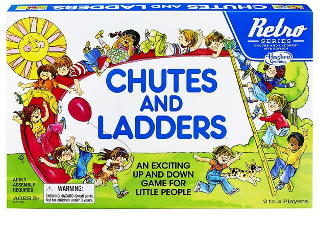 Hasbro Chutes and Ladders Game: Retro Games Series 1978 Edition