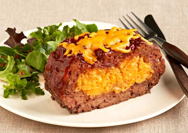 Macaroni and Cheese Stuffed Meatloaf Recipe