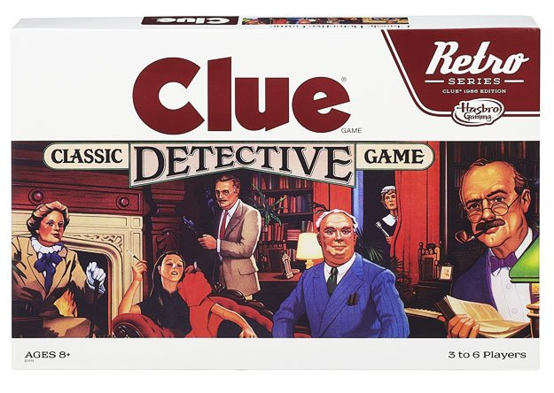 Retro Games Series Clue 1986 Edition Game