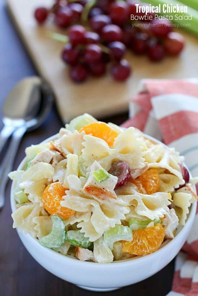 Tropical Chicken Bowtie Pasta Salad