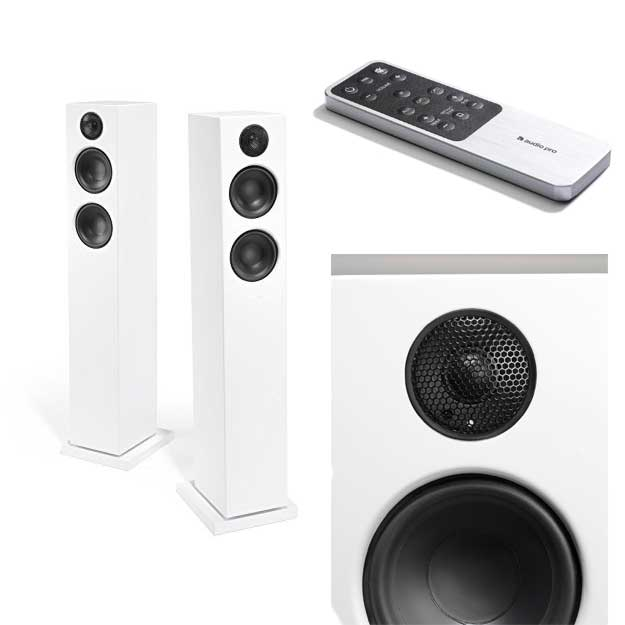 Audio Pro Addon T20 Bluetooth Wireless Home Theater Floor Standing Stereo Speakers