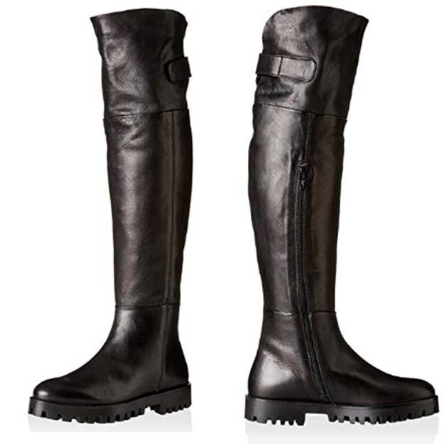 Manas Women's Berlino Over The Knee Leather Boot