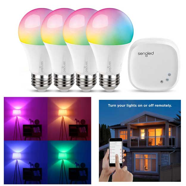 Sengled Element Color Plus Smart A19 LED Light Bulb Starter Kit
