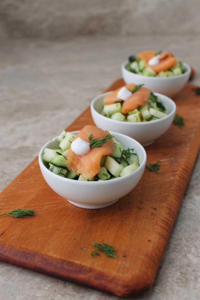 Simply Smoked Salmon With Cucumber Relish