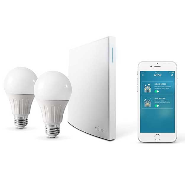 Wink Bright Smart Home Lighting Starter Kit with Wink Hub 2