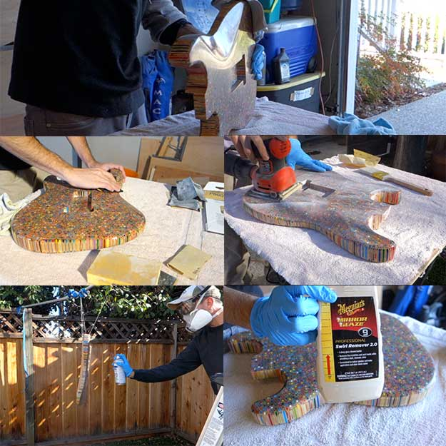 Create Your Own Electric Guitar By Coating, Polishing And Wet Sanding The Electric Guitar Body Parts