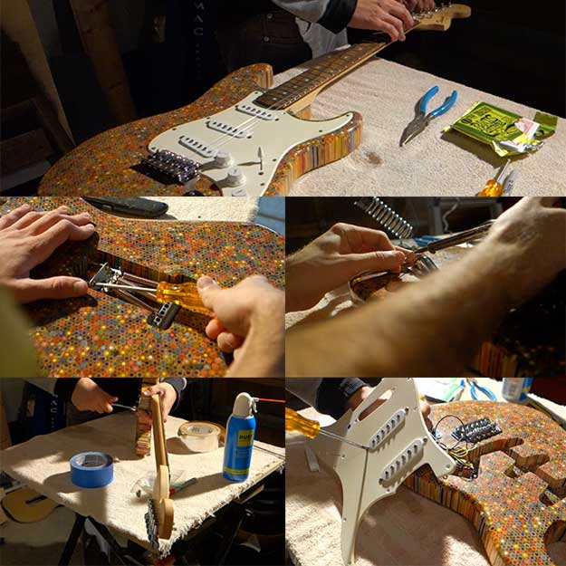 Make Your Own Custom Diy Electric Guitar By Installing The Hardware Parts