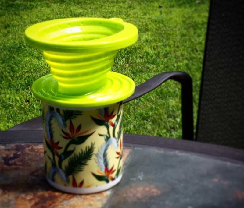 Collapsible Silicone Coffee Dripper - Great for Camping, Hiking or Every Day Use! Use with Filter Paper - Dishwasher Safe