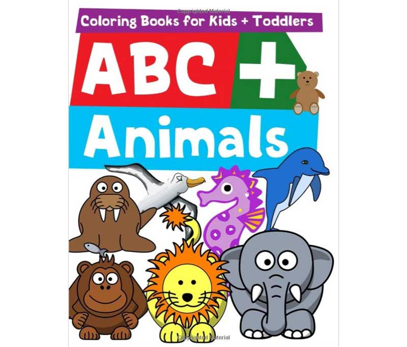 Coloring Books For Kids + Toddlers ABC + Animals