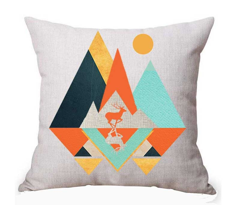 Cotton Linen Square Decorative Throw Pillow Case