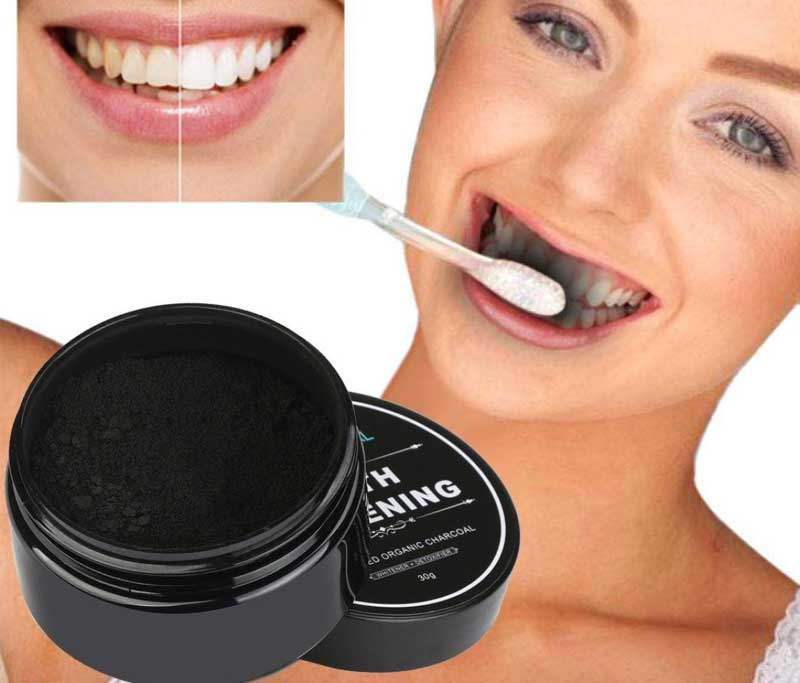 Creazy Teeth Whitening Powder Natural Organic Activated Charcoal Bamboo Toothpaste