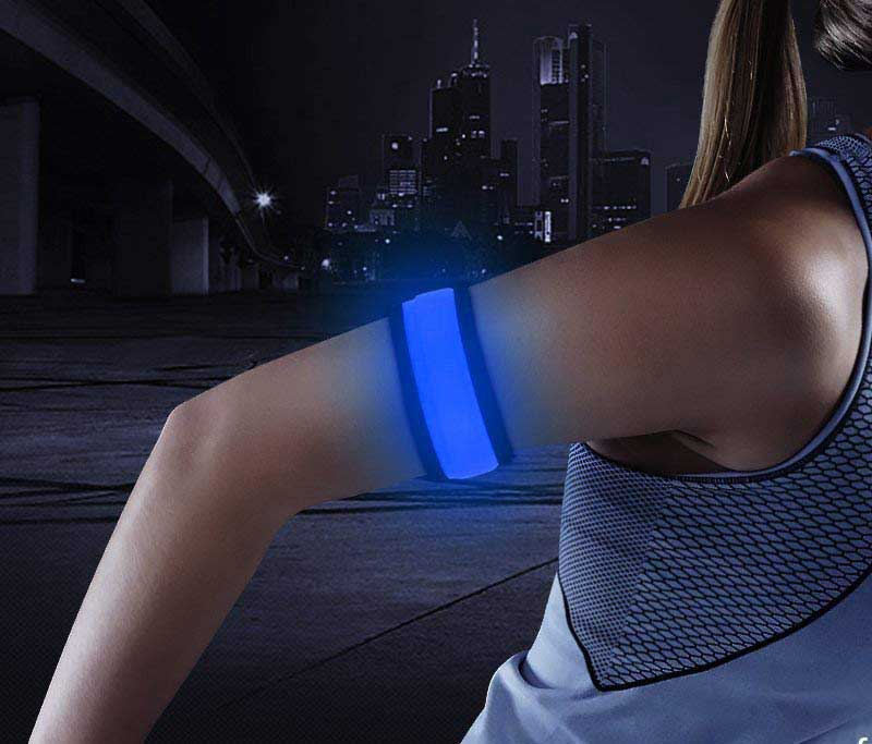 LED Armband, Glowing Slap Bracelets for Boys& Girls, Light Up Event Wristbands for Running, Cycling, Jogging, Hiking, Dog Walking