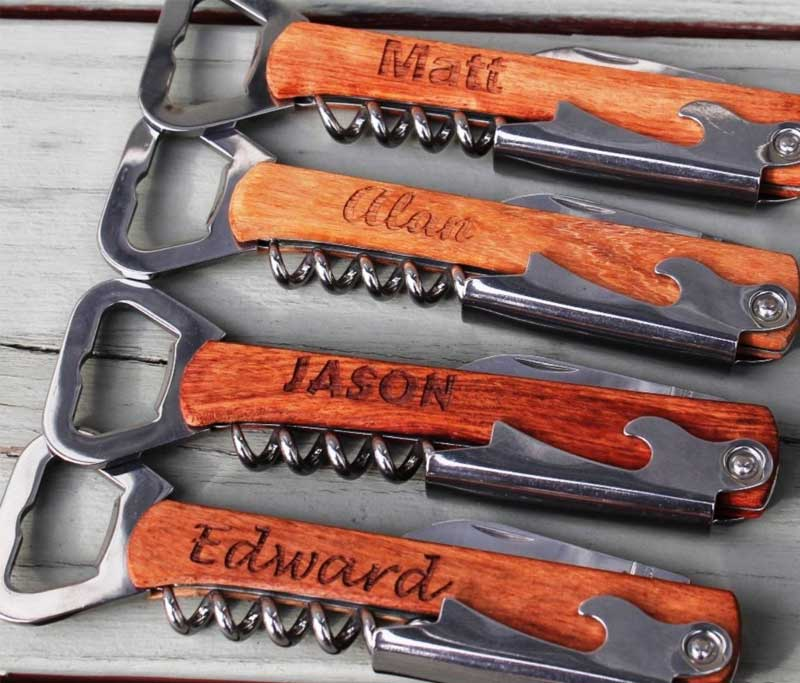 Personalized Corkscrew and Multi-Tool