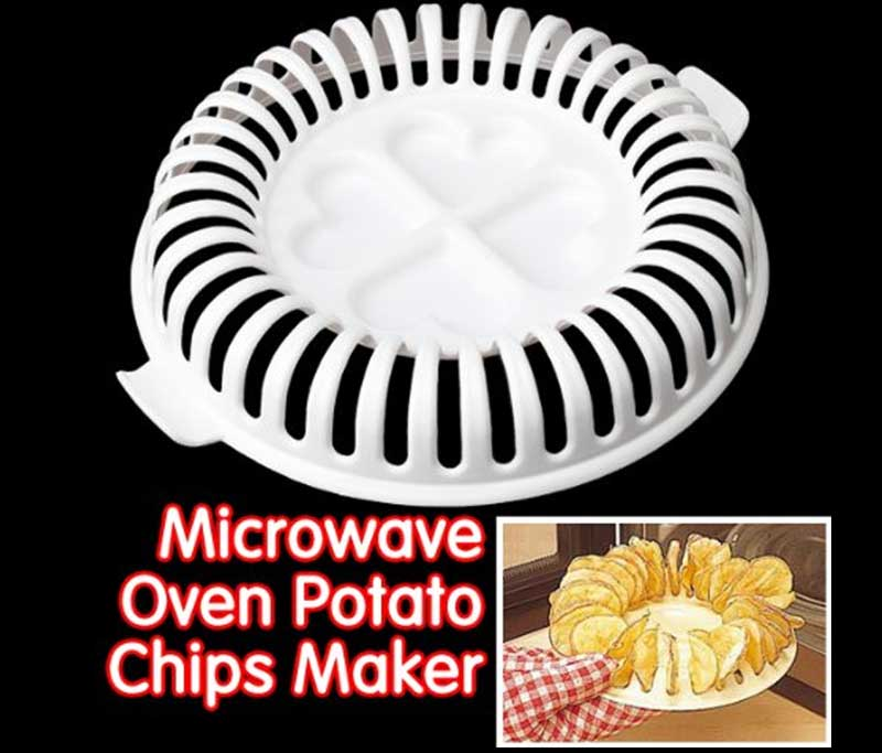 Potato Chips Baking Tray Microwave Oven Fat Free Potato Chips Maker Home Baking Tool